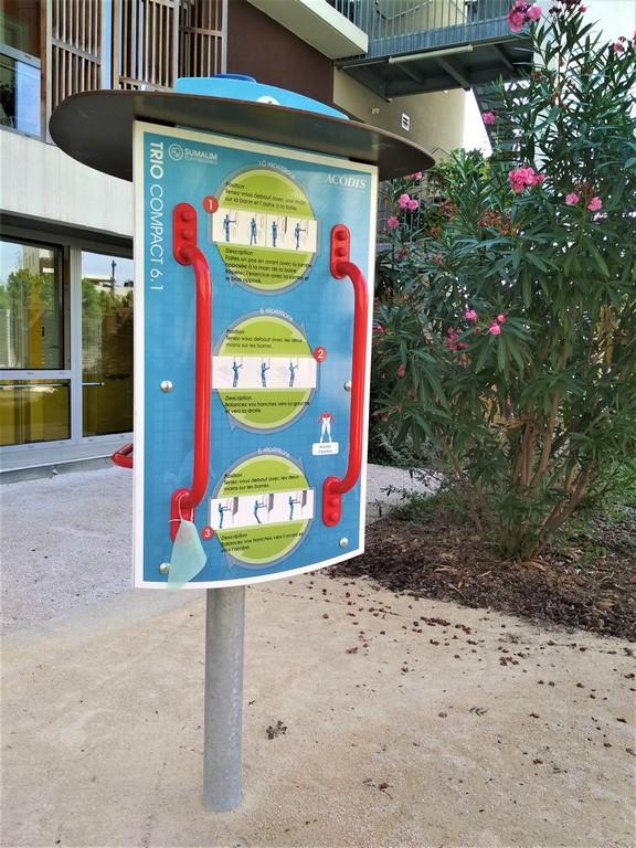 borne kiné jardin thérapeutique Montpellier